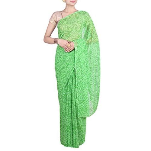 Aaradhya Fashion Aaradhya Fashion Georgette Saree (Afj-0295_Green)