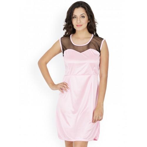 6ef0779dbaa0 Klamotten Pink Satin Nightdress X39 Pink  Klamotten Pink Satin Nightdress  X39 Pink ...