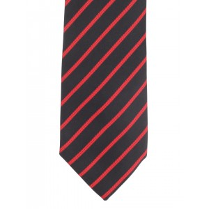 Alvaro Castagnino Black & Red Self-Striped Tie