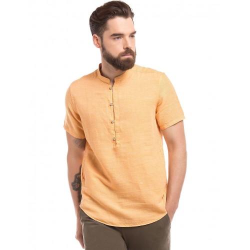 e3f59a8961b0d Buy True Blue Linen Cotton Popover Shirt online