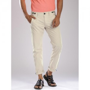 Breakbounce Beige Street Cool Fit Chino Trousers