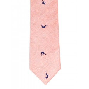 The Tie Hub Peach-Coloured Printed Tie