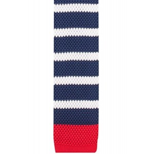 The Tie Hub The Tie Hub Free Striped Blue And White Knitted Necktie