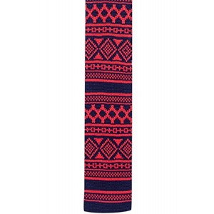 The Tie Hub The Tie Hub Heritage Geo Red Knitted Necktie