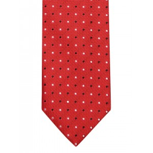 Lino Perros Red Dot Pattern Tie