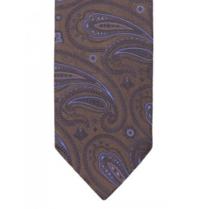Lino Perros Brown & Purple Paisley Weave Tie
