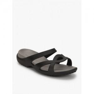 Crocs Meleen Twist Black Rubber Flipflops