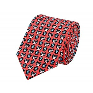 TieKart Tiekart Red Silk Playfully Sober Men Tie
