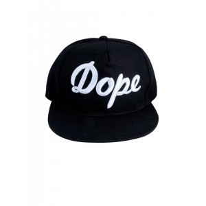 NOISE Unisex Black Snapback Cap With Embroidery