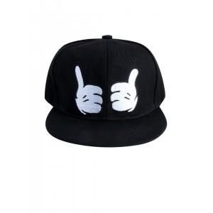 NOISE Unisex Black Snapback Cap With Applique Detail