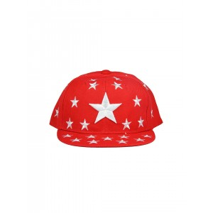 FabSeasons Red Printed Embroidered Cap