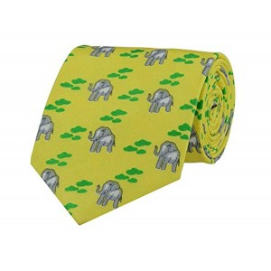 TieKart Tiekart Yellow Ethnic Men Ties