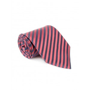 Savile Row coral blue color, silk neck- tie