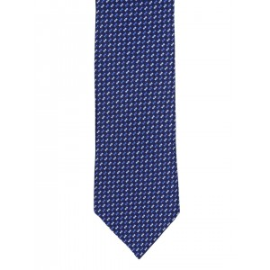 Peter England Statements Navy Blue Patterned Tie