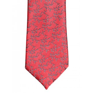 Peter England Statements Red & Grey Patterned Tie