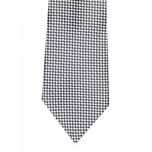 Peter England Statements Grey & Black Patterned Tie