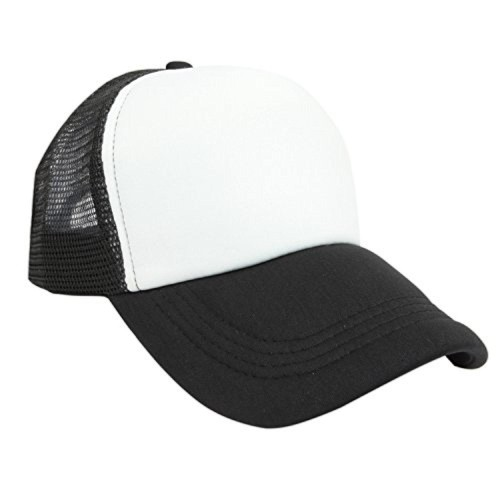 b7403378579 ilu White   Black Solid Caps  ilu White   Black Solid ...