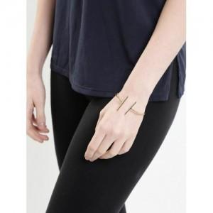 Tipsyfly Gold-Toned Cuff Bracelet