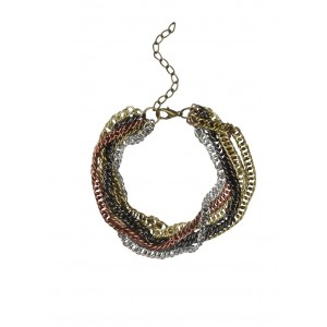 Faballey Rustic Clustered Chains Bracelet
