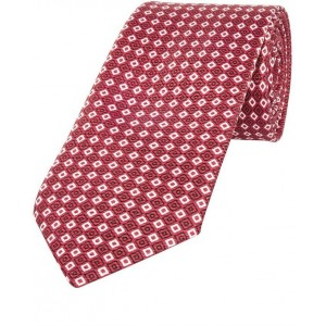 Park Avenue Red Polyester Printed Tie
