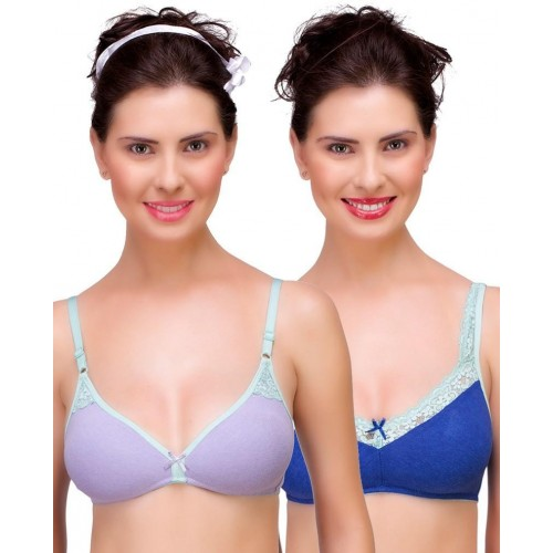 1d34f32ce4 Buy Inner Sense Organic Antimicrobial Laced Women s T-Shirt Multicolor Bra  online