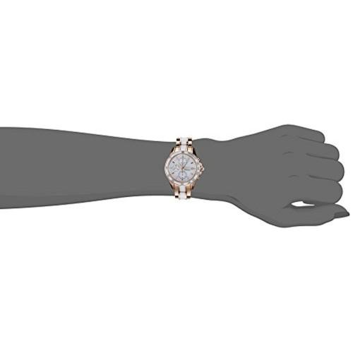 Seiko Seiko Sportura Chronograph White Dial Women's Watch - SNDW98P1