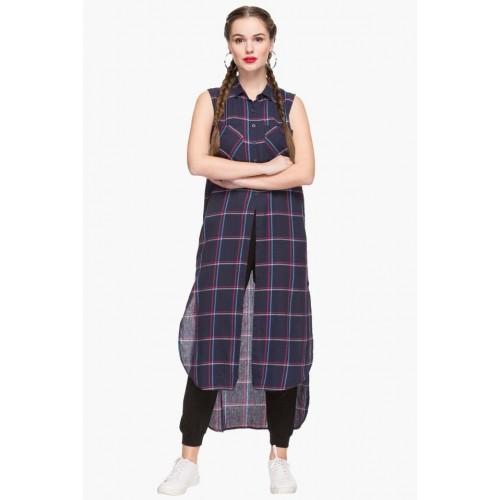 70964361b156a Buy LIFE Womens Collared Check Long Shirt online