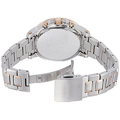 Seiko Seiko Premier Chronograph White Dial Women's Watch - SNDV68P1