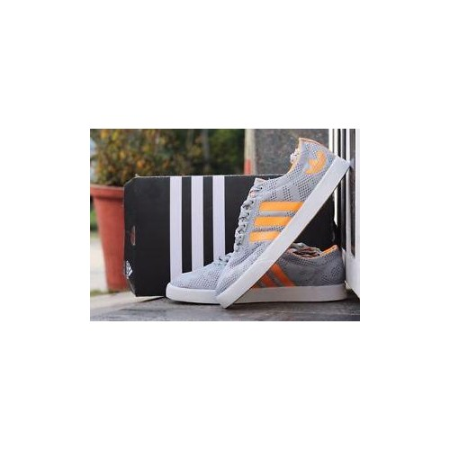 online store f82ac 7da93 Imported Adidas Neo 2 Sneakers for Men grey with orange