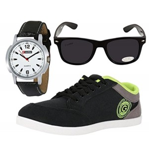 Globalite Combo Men's Casual Shoes GSC0337AMZ with Lotto Watch & Sunglass