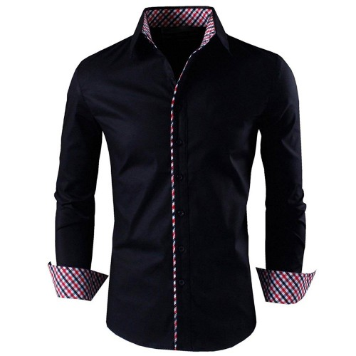 Zombom Navy Blue Cotton Full Sleeves Casual Shirt