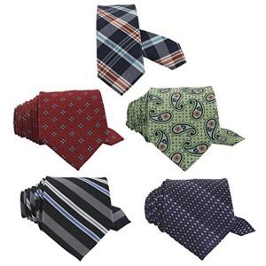 OROSILBER Multicolor Printed Neck Tie Combo