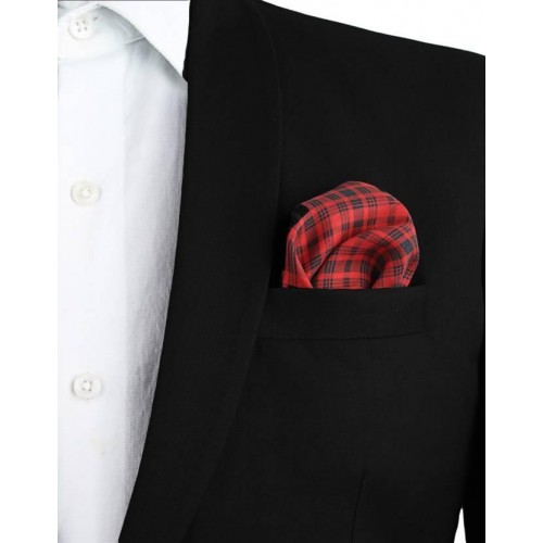 22cafc7d9e3d Buy Chokore Red Checkered Silk Pocket Square online | Looksgud.in