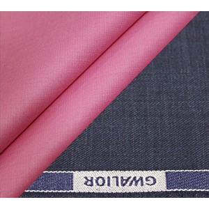 Gwalior Greyish Blue Polyblended Trouser And Shirt Fabric