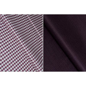 John Diego Maroon Cotton Checked Shirt And Trouser Fabric