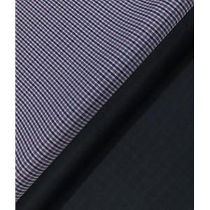 Raymond Dark Blue Self Check Trouser Fabric With Nemesis Multicolor Check Cotton Shirt Fabric