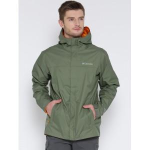 Columbia Olive Green Watertight II Hooded Rain Jacket