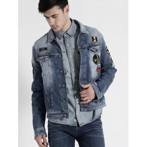 Replay Blue Washed Denim Jacket