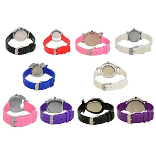 A R Sales A R Sales Pack Of 10 Classic Analog Watches For Girls And Women