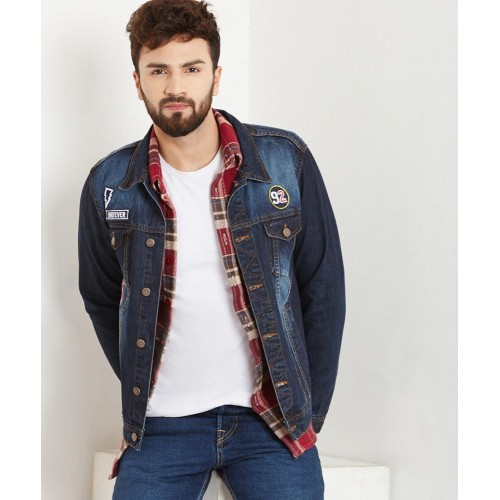 455b6716bda08 Buy Yepme Blue Graham Dark Wash Denim Jacket online
