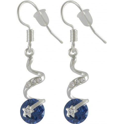 Sarah Blue Star Metal Dangle Earring