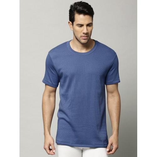 584f012d3050 ... Marks & Spencer Men Blue Cotton Rich Thermal T-shirt 8803N ...