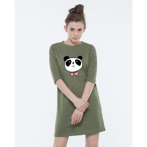 e165a3d5142a Buy Bewakoof Green Dressy Panda T-Shirt Dress online