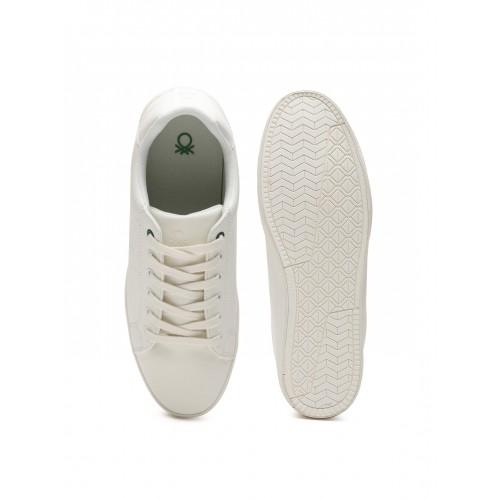 fbaa9b9c882 Buy United Colors of Benetton Men White Solid Sneakers online ...