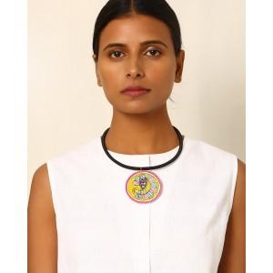 Moya Hand-Painted Madhubani Pendant