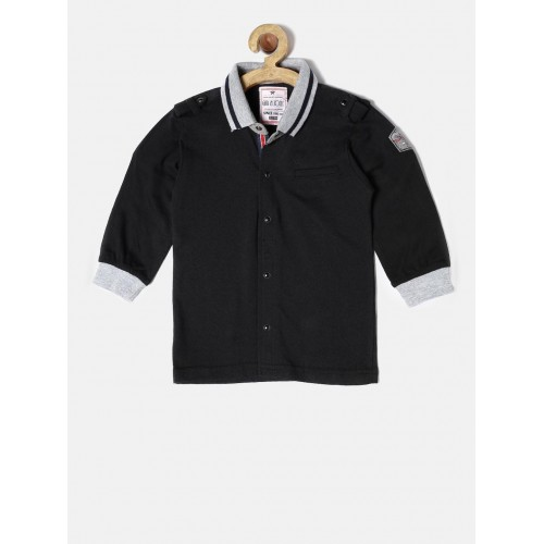Gini & Jony Kids Black Solid Shirt