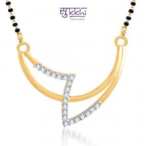Sukkhi Gold And Rhodium Plated Mangalsutra Pendant