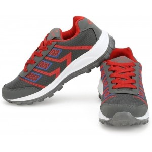 Provogue Gray And Red Running Shoes