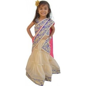 Jamboree Embroidered Girl's LehengaCholi and Dupatta Set