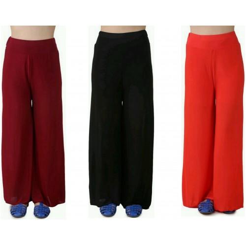 Lambency Regular Fit Women's Maroon, Black, Orange Trousers